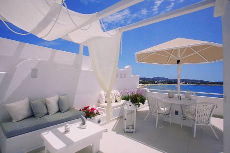 Glaros boutique hotel in naxos at saint george beach for Boutique hotel glaros